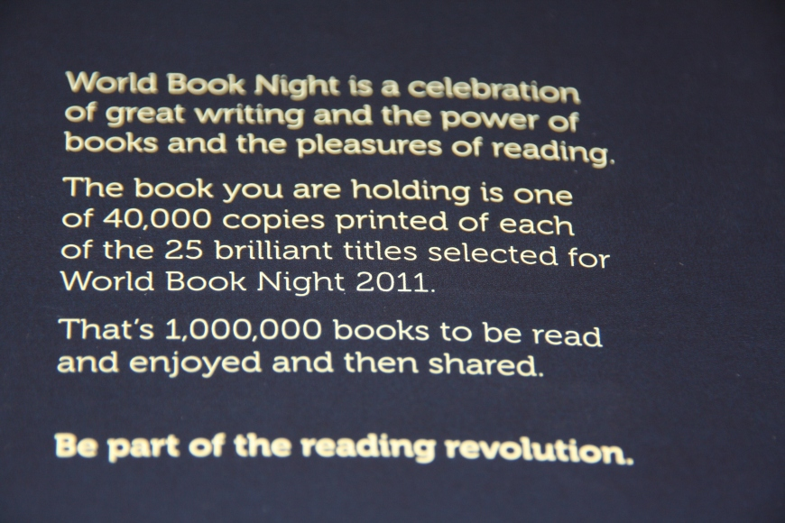 World Book Night blurb